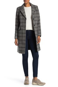 French Connection Wool Blend Check Print Jacket