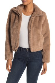 Lucky Brand Missy Two Tone Faux Fur Jacket