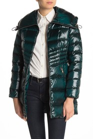 Karl Lagerfeld Envelope Collar Puffer Coat