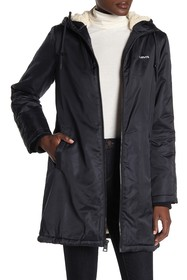 Levi's Faux Shearling Lined Hooded Jacket