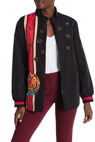 Anna Sui Moto Embroidered Jacket
