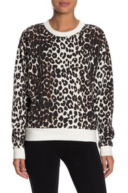 Betsey Johnson Leopard Printed Sweatshirt