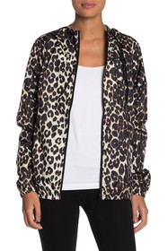 Betsey Johnson Leopard Printed Track Jacket
