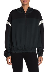Betsey Johnson Colorblocked Half Zip Hoodie