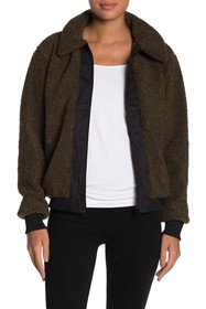 Betsey Johnson Faux Shearling Teddy Jacket