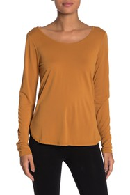 Betsey Johnson Strappy Back Long Sleeve Tee