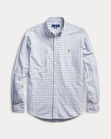 Ralph Lauren Classic Fit Plaid Oxford Shirt