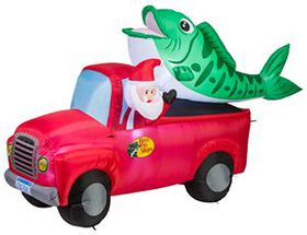 Bass Pro Shops® Santa-In-Truck Inflatable