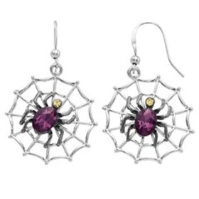 Spider Web Drop Holiday Earrings