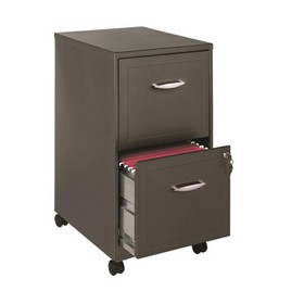 "18"""" Deep 2 Drawer File Cabinet in Metallic Charco"