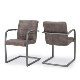 Alta Upholstered Arm Chair (Set of 2) - Christophe