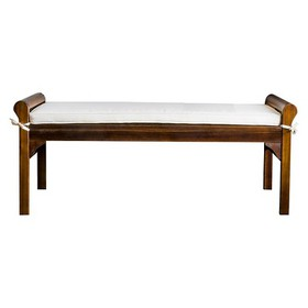 Nelson Wood Bench with Cushion - Christopher Knigh