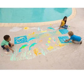 Chalkscapes Under-The-Sea Chalk Stenciling Set - H
