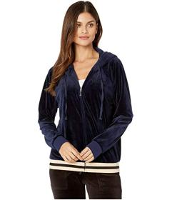 Juicy Couture Luxe Velour Relaxed Hooded Jacket