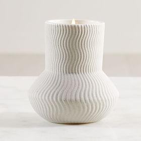 Crate Barrel NewIllume Palo Santo Ceramic Candle