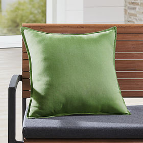 "Crate Barrel Sunbrella ® Cilantro 20"" Sq. Outdoor"
