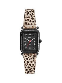 Fossil Lyric Stainless Steel, Faux Fur & Leather 3