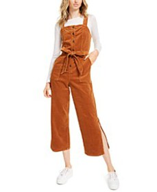 Corduroy Side-Slit Jumpsuit