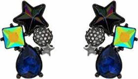 Betsey Johnson Star & Stone Cluster Button Earring