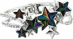 Betsey Johnson Star Hinged Bangle Bracelet