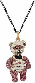Betsey Johnson Mummy Bear Pendant Long Necklace