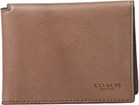 COACH Trifold ID Wallet in Hand Dyed Sport Calf