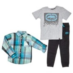 ECKO Toddler Boys Button-Down, Shirt and Joggers S