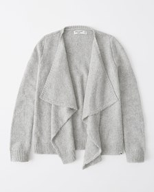 blanket sweater, LIGHT GREY