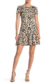 Betsey Johnson Cheetah Print Ruffle Hem Dress