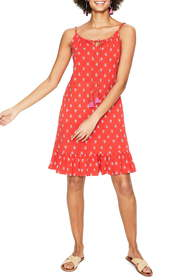 BODEN Sophia Print Cotton Blend Jersey Minidress