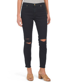 J BRAND Made In Usa Mid Rise Destructed Skinny Jea
