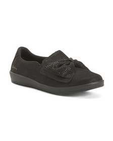 SKECHERS Bow Accent Slip-on Flats