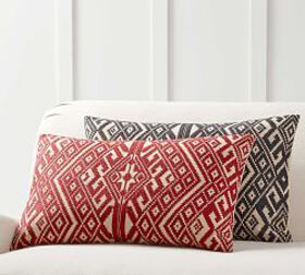 Pottery Barn Donner Embroidered Lumbar Pillow Cove