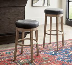 Pottery Barn Hurst Leather Bar & Counter Stool