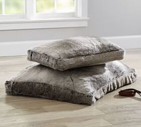 Pottery Barn Faux Fur Pet Bed Cover - Gray Ombre