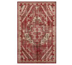 Pottery Barn Etta Hand-Knotted Rug - Red Multi
