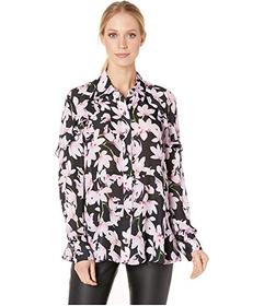 Nicole Miller Button Down Ruffle Blouse
