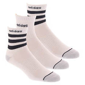 adidas-3 Men's Stripe 3-Pack High Quarter Socks