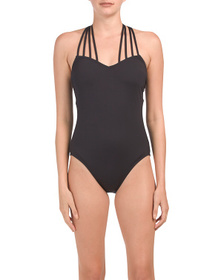 KENNETH COLE High Neck Strappy One-piece Swimsuit