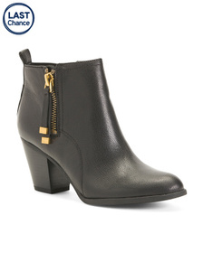 FRANCO SARTO Leather Ankle Booties