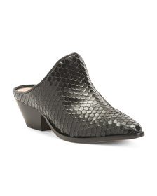 SCHUTZ Made In Brazil Leather Pointy Toe Mules