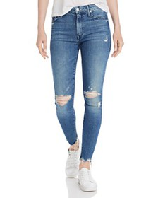 MOTHER - The Looker High-Rise Rainbow Ankle Skinny