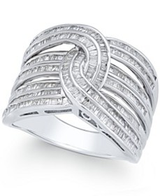 Diamond Baguette Interwoven Statement Ring (1 ct.