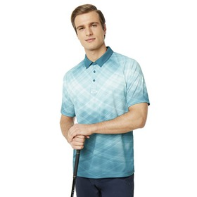Oakley Barkie Gradient Golf Polo SS - Petrol
