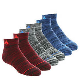 adidas Boys' Superlite 6-Pack Low Cut Socks