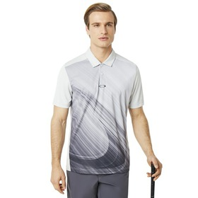 Oakley Exploded Ellipse Golf Polo SS - Light Gray