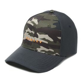 Oakley 6 Panel Camou + Solid Hat - Dark Brush