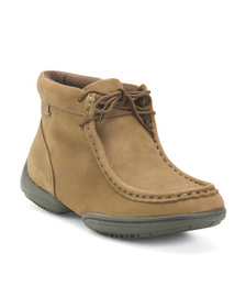 KENNETH COLE REACTION Moccasin Leather Hiker Boots