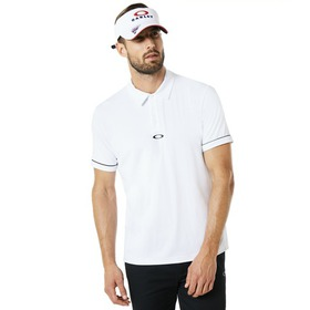 Oakley Polo Contrast Colar Detail SS - White