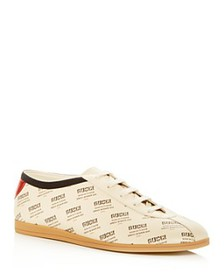 Gucci - Men's Falacer Invite Print Leather Lace Up
